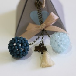 Colgante 2 bolas azul