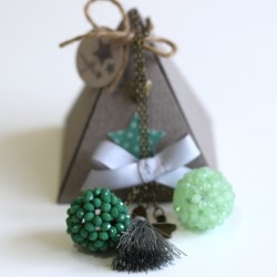 Colgante 2 bolas verde